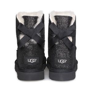 Ugg mini bailey bow black sparkle